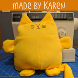 Franklin the Fat Cat softie pattern