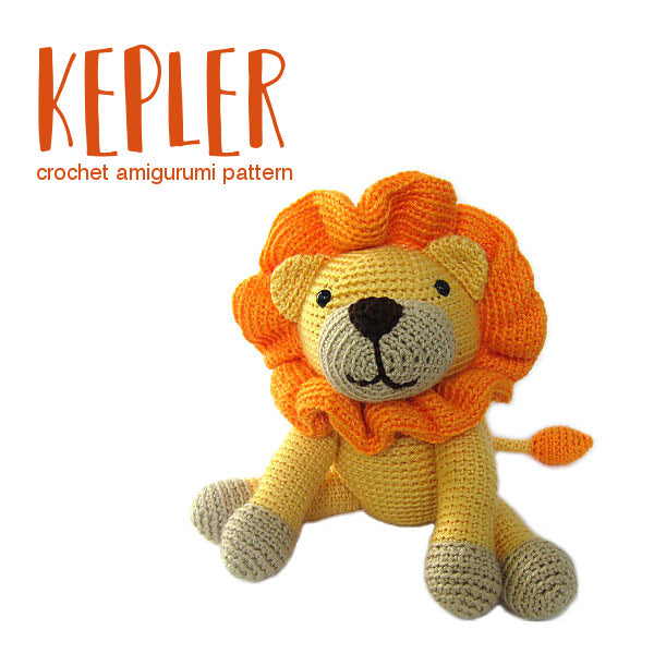 Kepler the Lion Crochet Amigurumi Pattern