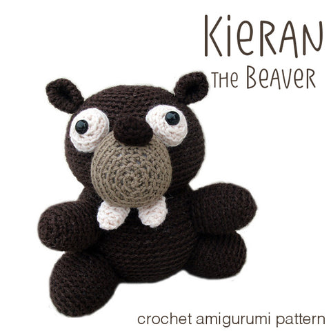 Kieran the Beaver Crochet Amigurumi Pattern