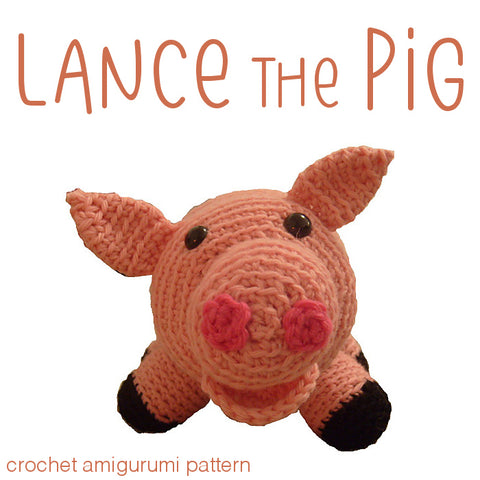 Lance the Pig Crochet Amigurumi Pattern