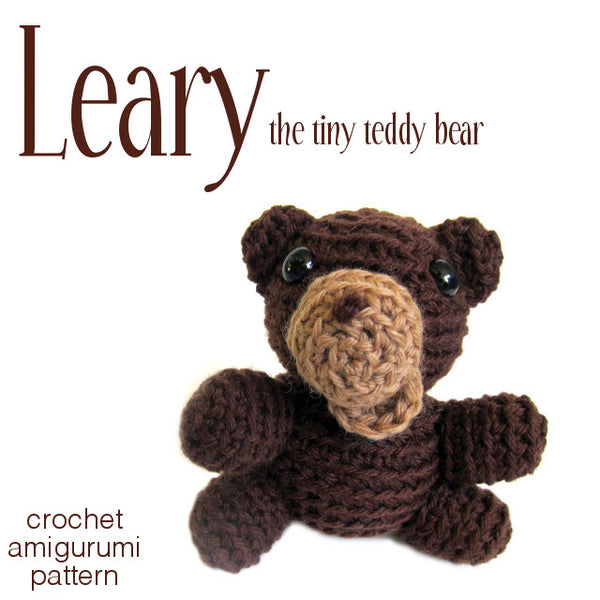 Learie the Tiny Teddy Bear Crochet Amigurumi Pattern
