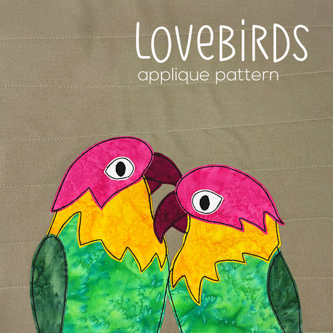 Lovebirds Applique Pattern