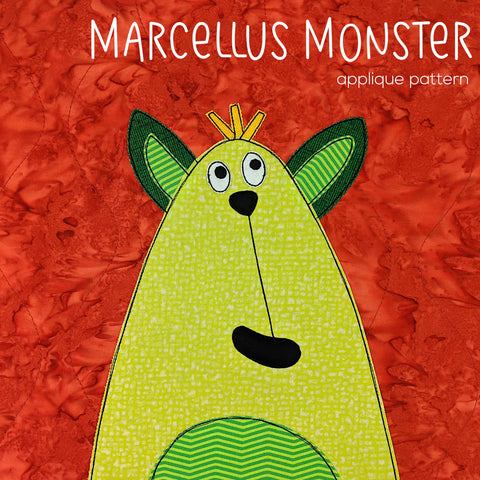 Marcellus Monster Applique Pattern