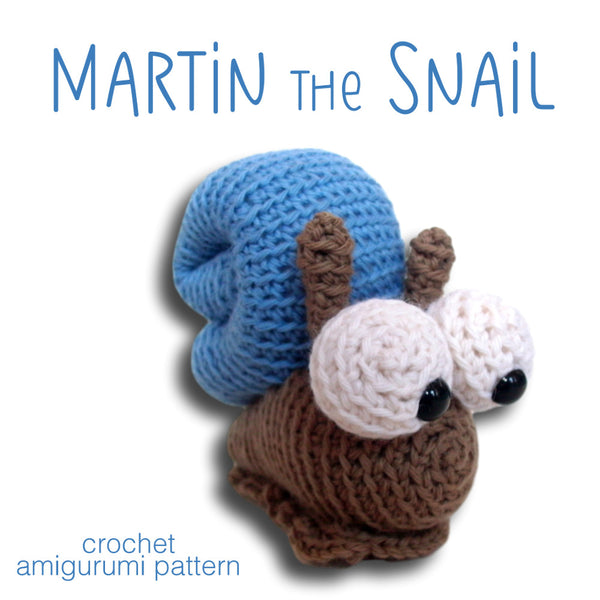 Martin the Snail Crochet Amigurumi Pattern