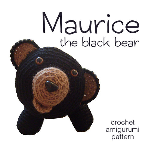 Maurice the Black Bear Crochet Amigurumi Pattern