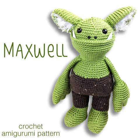 Maxwell Monster Crochet Amigurumi Pattern