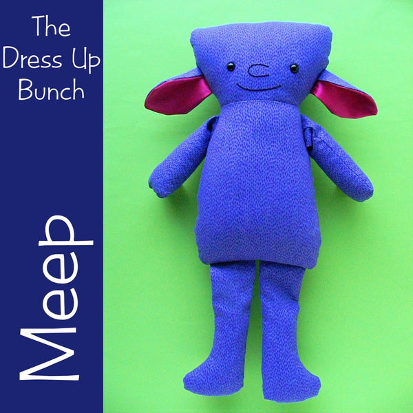 Meep - a Monster Softie Pattern for the Dress Up Bunch
