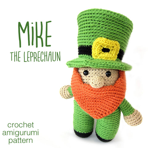 Mike the Leprechaun Crochet Amigurumi Pattern