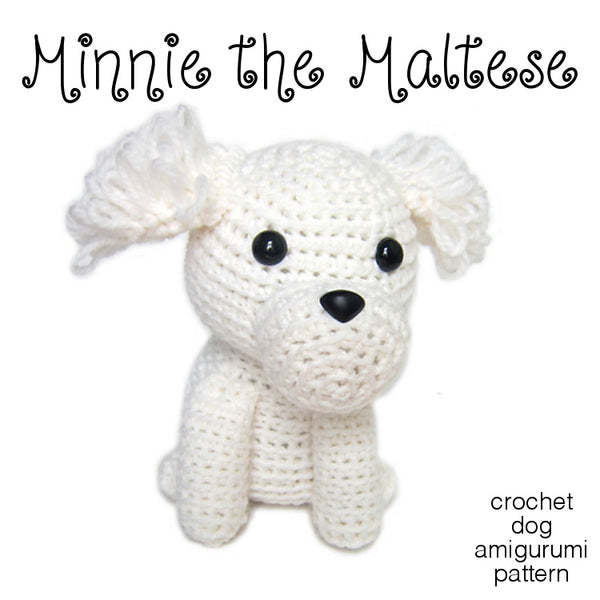 Minnie the Maltese Crochet Amigurumi Pattern