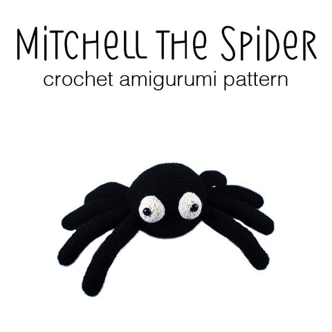 Mitchell the Spider Crochet Amigurumi Pattern
