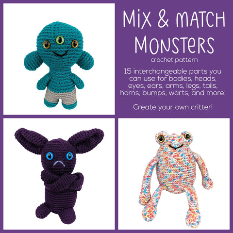 Mix & Match Monsters Amigurumi Pattern