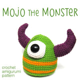 Mojo the Monster Crochet Amigurumi Pattern