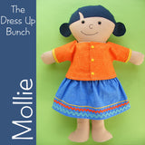 Mollie - Dress Up Bunch rag doll pattern