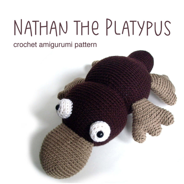 Nathan the Platypus Crochet Amigurumi Pattern
