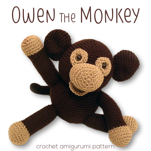 Owen the Monkey Crochet Amigurumi Pattern