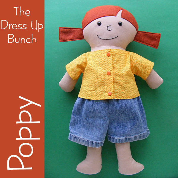 Poppy - a Dress Up Bunch Rag Doll Pattern