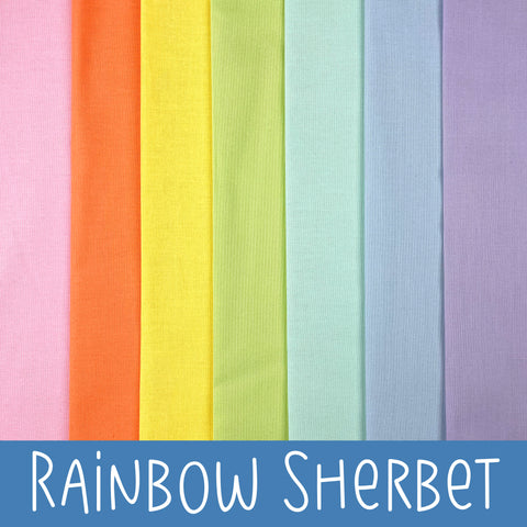 Rainbow Sherbet Fabric Bundles