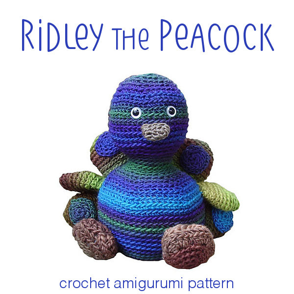 Ridley the Peacock Crochet Amigurumi Pattern