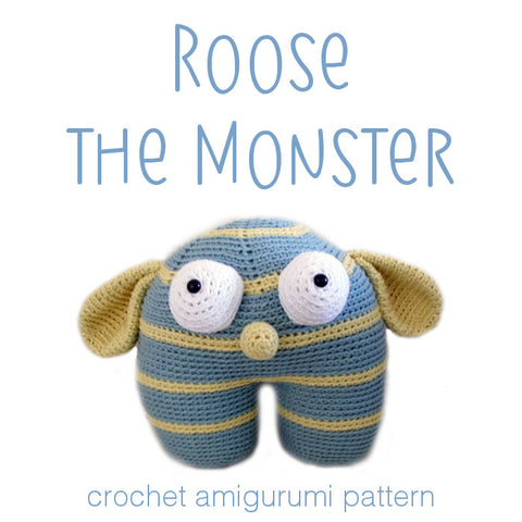 Roose the Monster Crochet Amigurumi Pattern