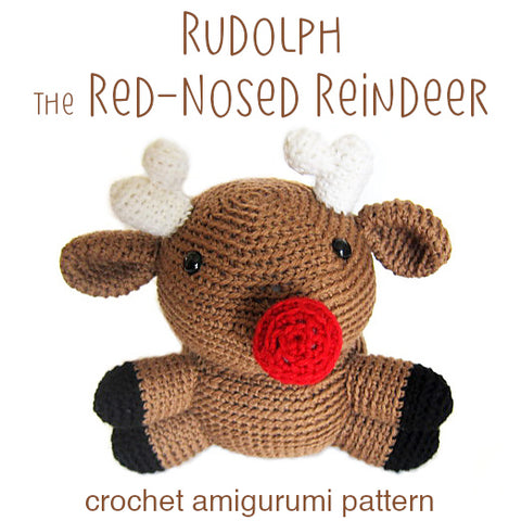 Rudolph the Red-Nosed Reindeer Amigurumi Pattern