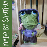 Finley the Frog Crochet Amigurumi Pattern