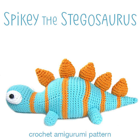 Spikey the Stegosaurus Crochet Amigurumi Pattern
