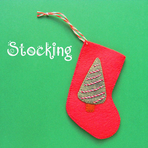 Stocking Ornament Pattern