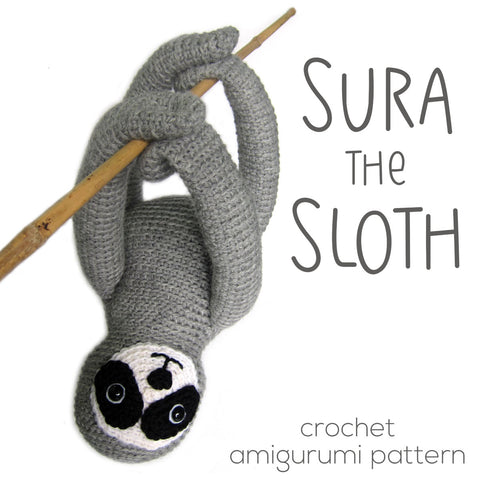 Sura the Sloth Crochet Amigurumi Pattern