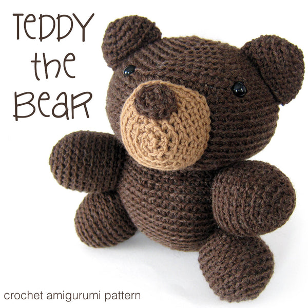Teddy the Bear Crochet Amigurumi Pattern