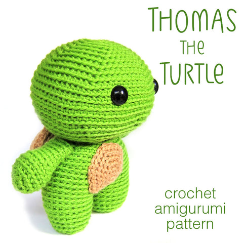 Thomas the Turtle Crochet Amigurumi Pattern