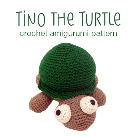 Tino the Turtle Crochet Amigurumi Pattern