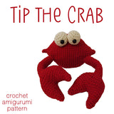 Tip the Crab Crochet Amigurumi Pattern