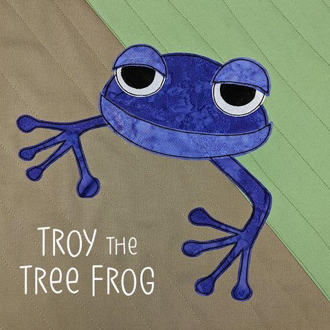 Troy the Tree Frog Applique Pattern