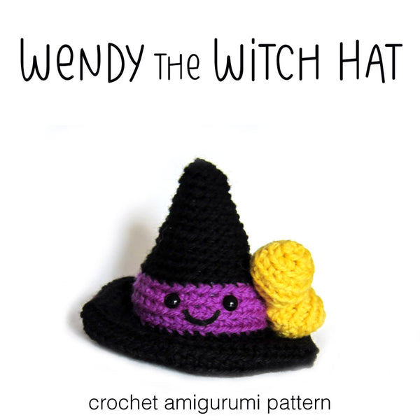 Wendy The Witch Hat Crochet Amigurumi Pattern Shiny Happy World