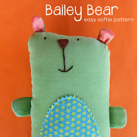 Bailey Bear softie pattern