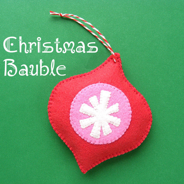 Christmas Bauble Ornament Pattern