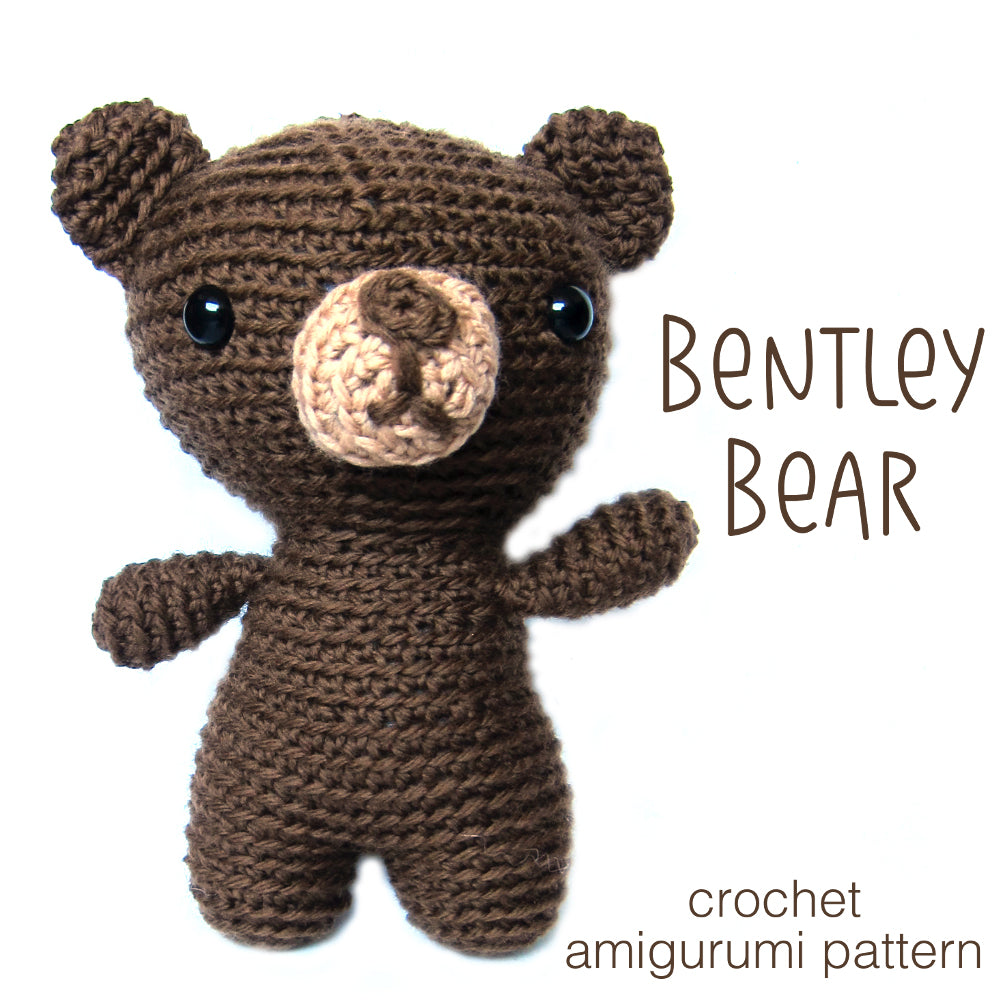 Bentley Bear Crochet Amigurumi Pattern Shiny Happy World