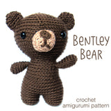 Bentley Bear Crochet Amigurumi Pattern