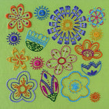 Bloom embroidery pattern