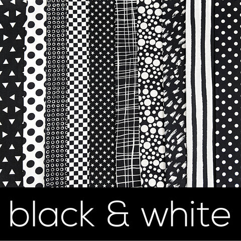 Black & White Fabric Bundles