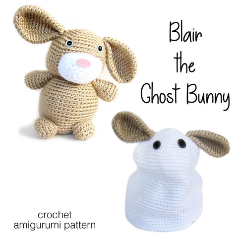 Blair the Ghost Bunny Crochet Amigurumi Pattern