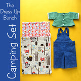 Camping Set - Dress Up Bunch Shirt, Overalls and Sleeping Bag
