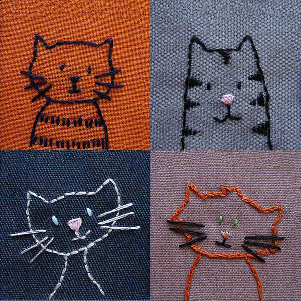 Cats embroidery pattern