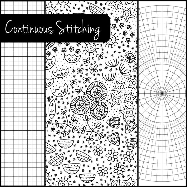Continuous Stitching - set of three embroidery fill patterns