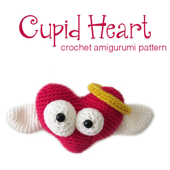Cupid Heart Amigurumi Crochet Pattern