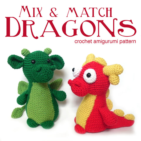 Mix & Match Dragon Crochet Amigurumi Pattern