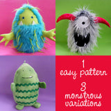 Eggheads - Monster softie pattern