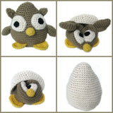 Courtney - a Hatching Owl Crochet Amigurumi Pattern