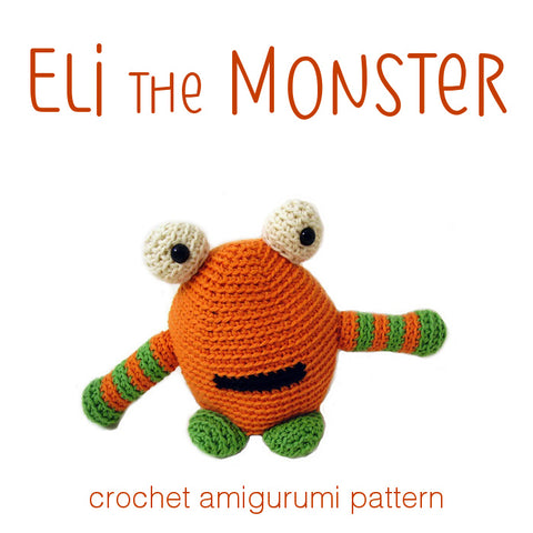 Eli the Monster Crochet Amigurumi Pattern