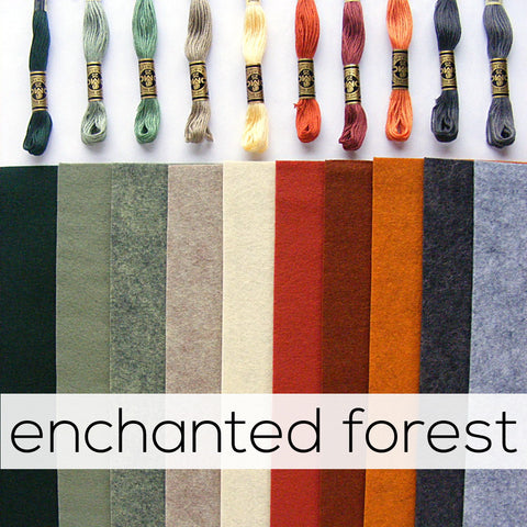 Wool Felt and Thread - Enchanted Forest Bundles